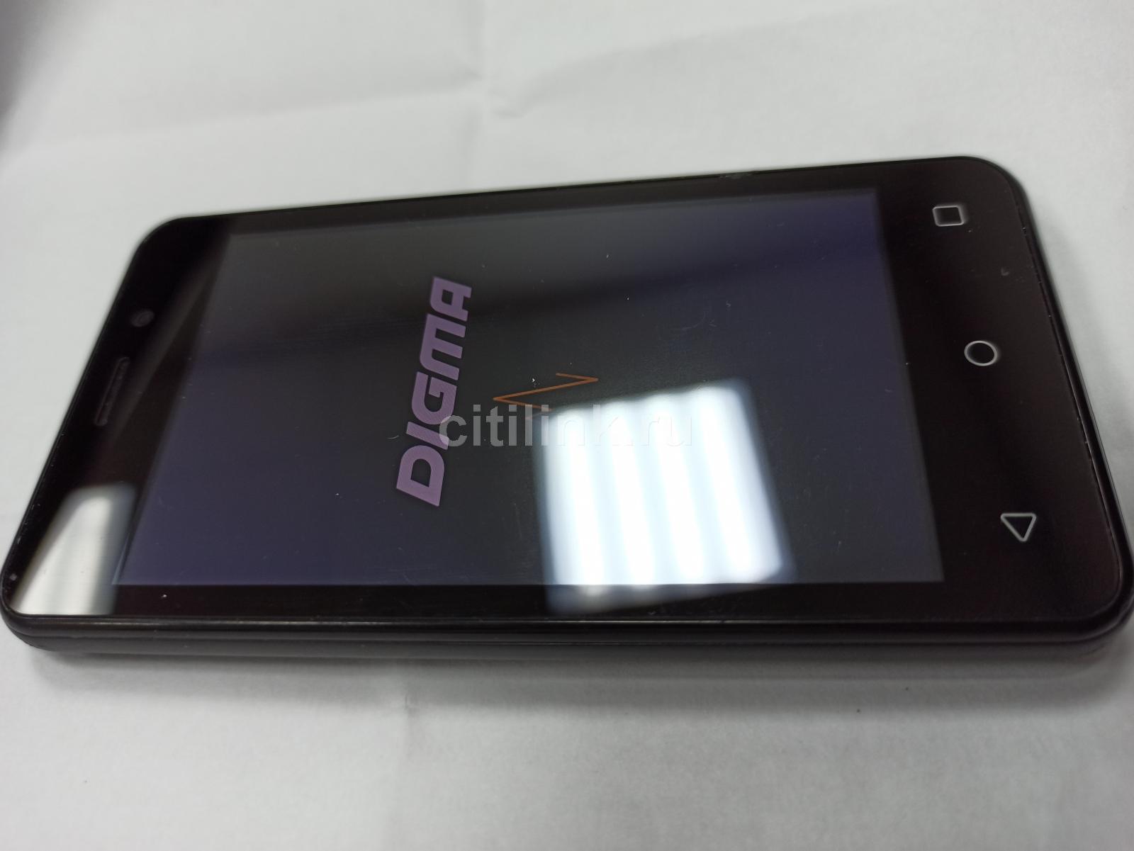 "Смартфон Digma Linx Alfa 3G 4Gb 512Mb черный 3G 2Sim 4"" TN 480x800 And8.1 2Mpix 802.11bgn GPS(Б/У)"